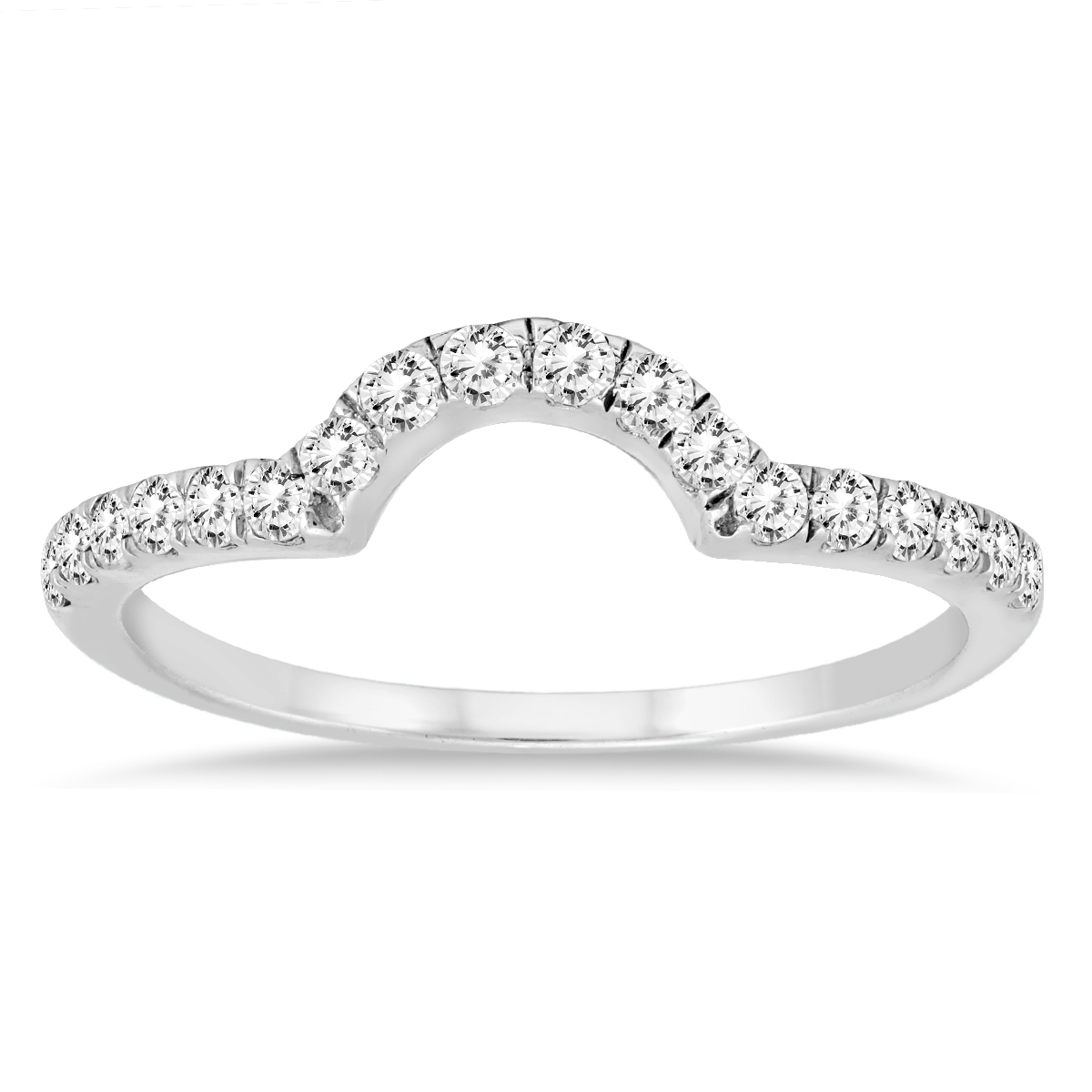 3/8 Carat TW Curved Diamond...