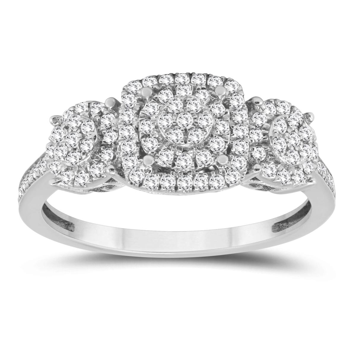 1/2 Carat Diamond Ring in 10K White Gold