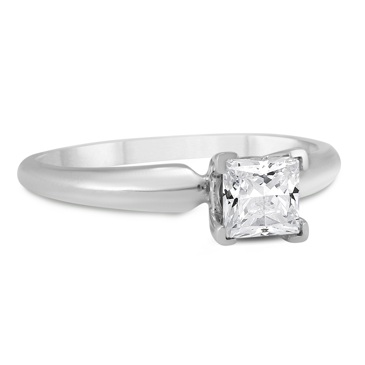 Almost 1/2 Carat Princess Diamond Solitaire Ring