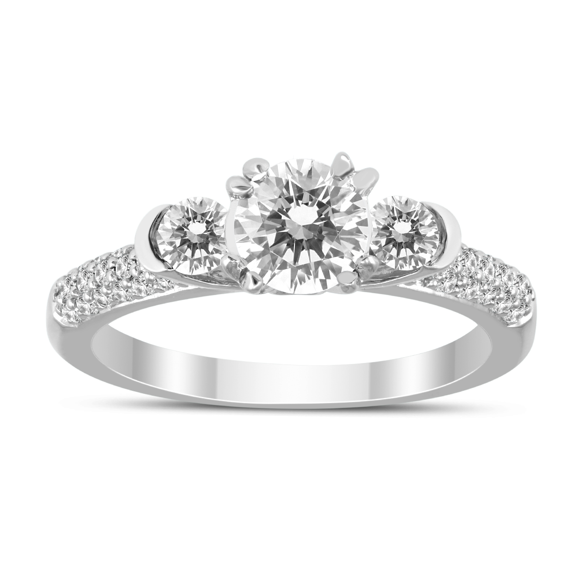 7/8 Carat TW Diamond Three Stone Ring