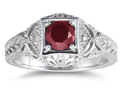 Ruby and Diamond Antique...