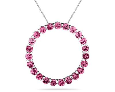2.95ctw Pink Topaz Circle...