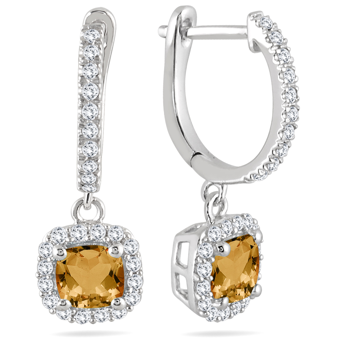 1 Carat Citrine and Diamond...