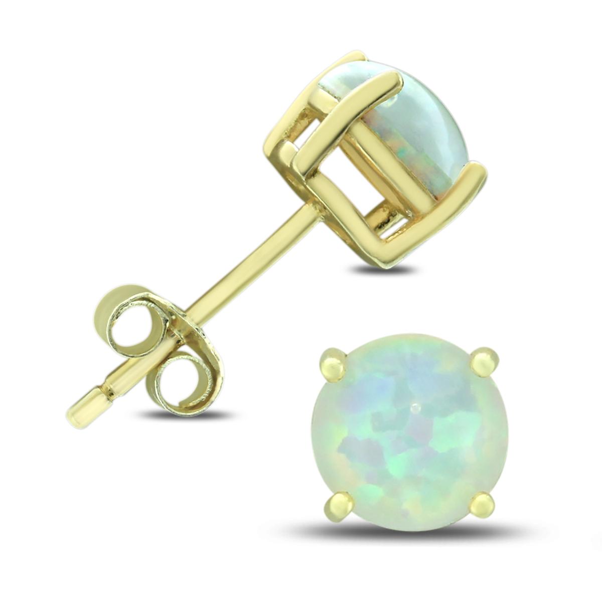 6MM Created Opal Stud Earrings in .925