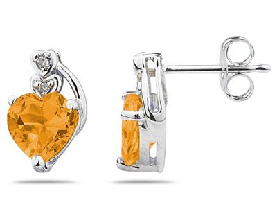 Heart Shape Citrine &...