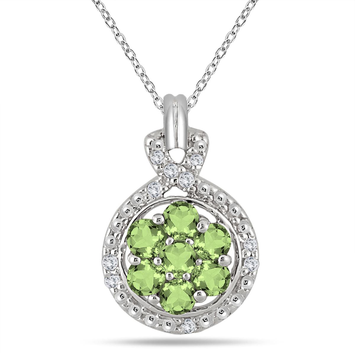 1 Carat Peridot and Diamond...