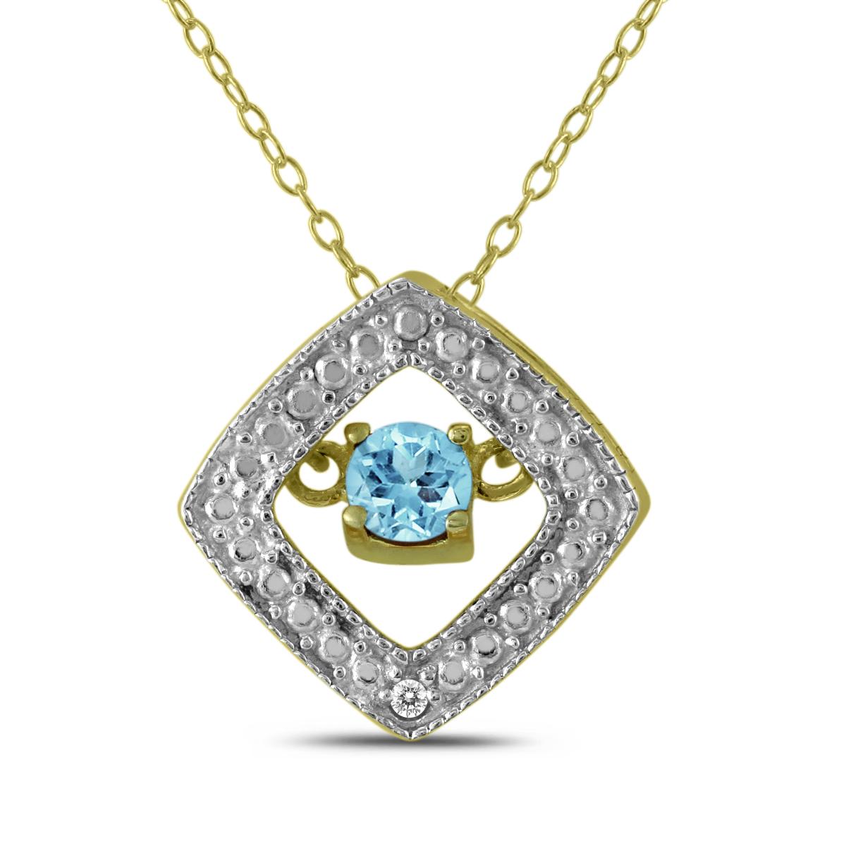 Blue Topaz and Diamond...
