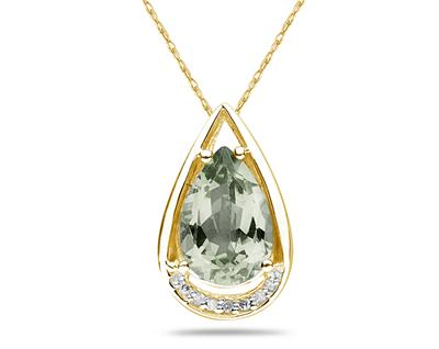 Pear Shaped Green Amethyst...