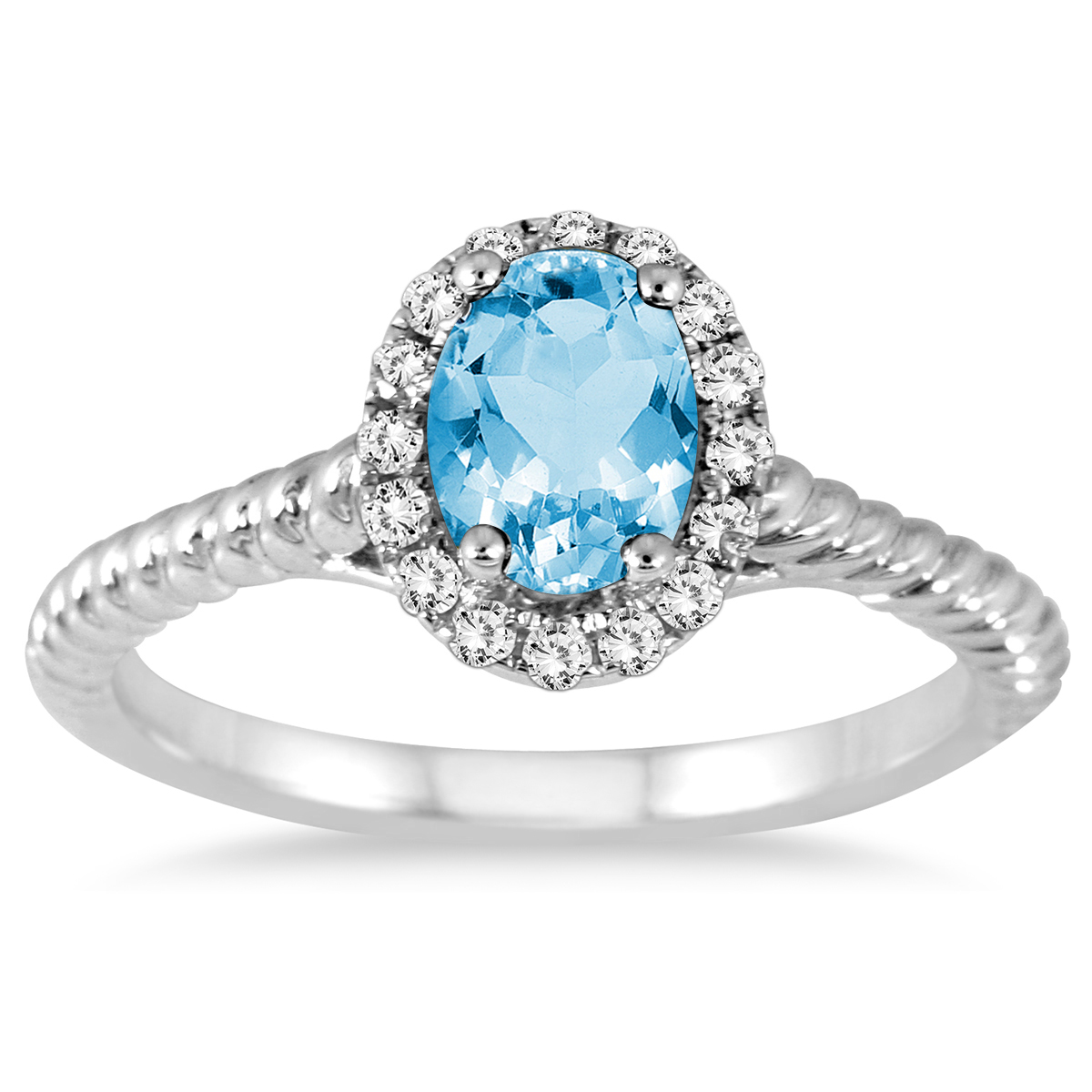 1 Carat Blue Topaz and...