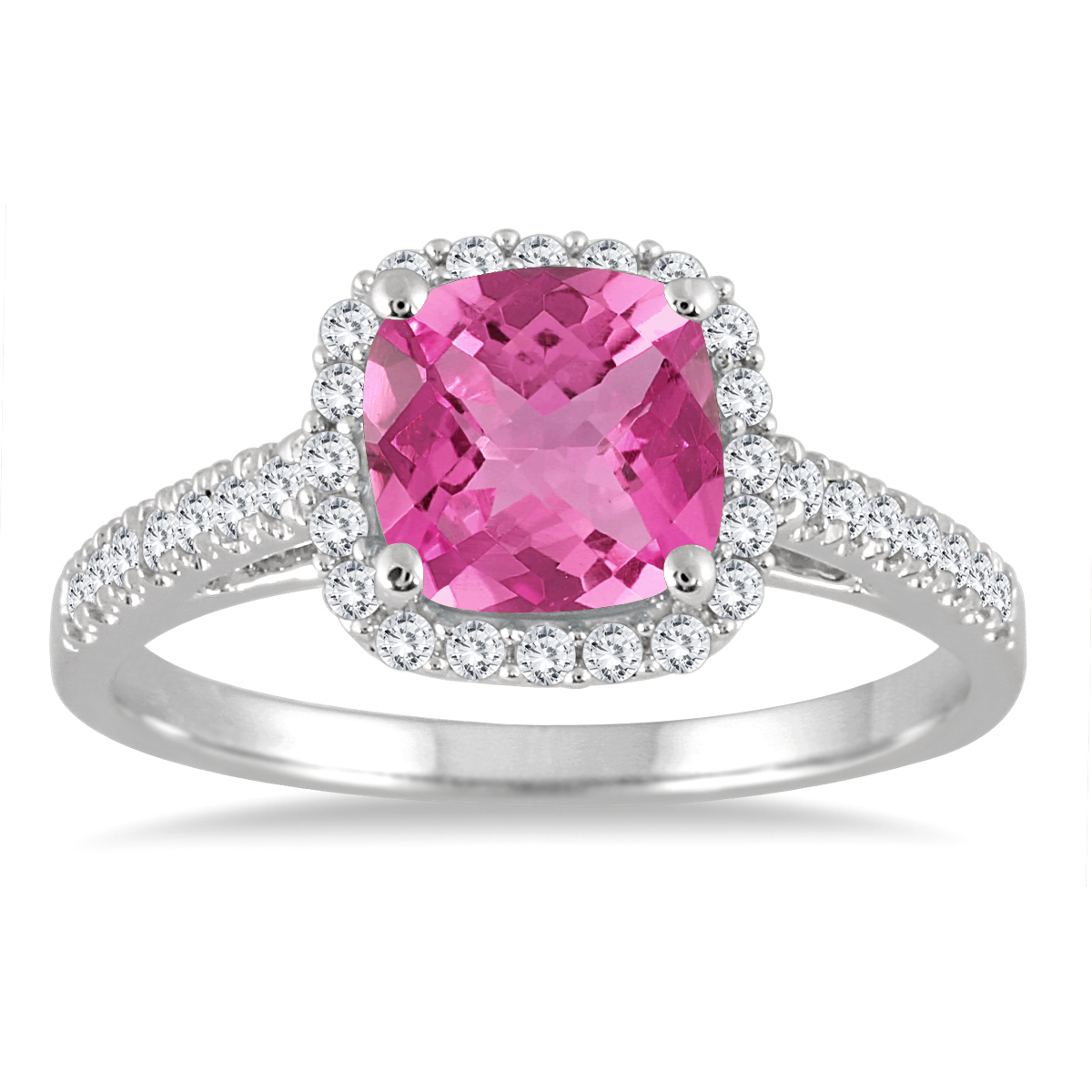 Pink Topaz and Diamond...