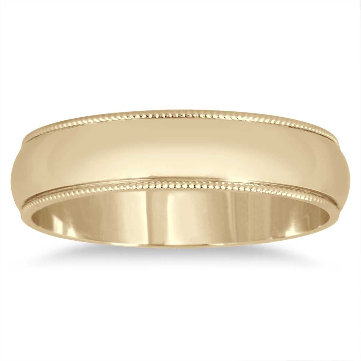 4mm Milgrain Edge Comfort Fit Wedding Band in 14K Yellow Gold