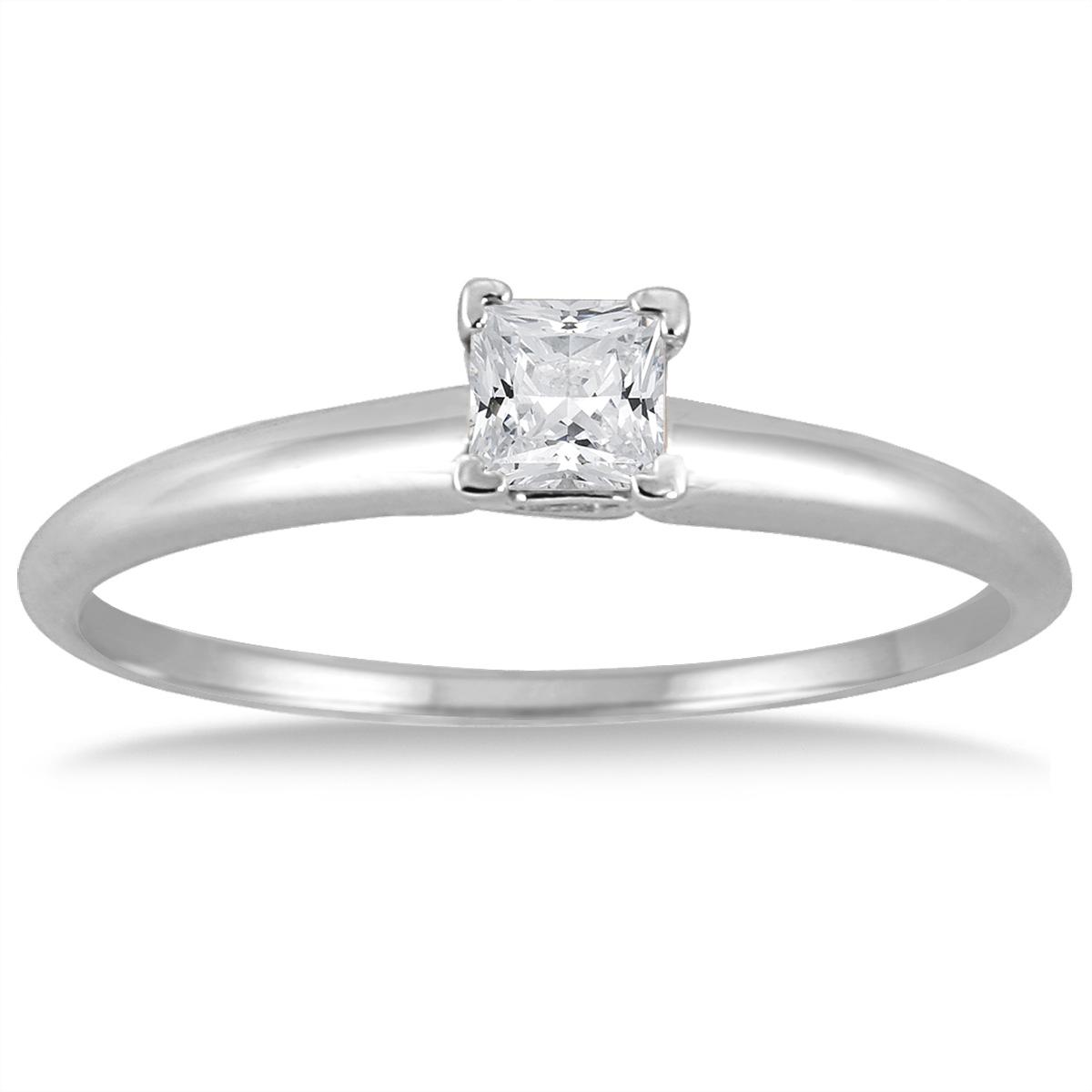 1/10 Carat Princess Diamond...